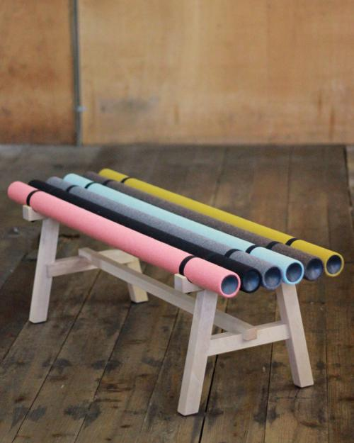 Paper Tubes Bench